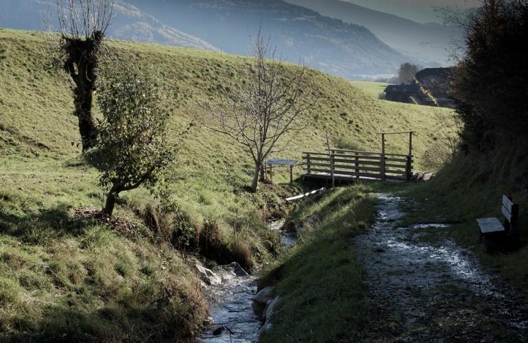 Der Finthersteig liegt idyllisch am Gilfenbach