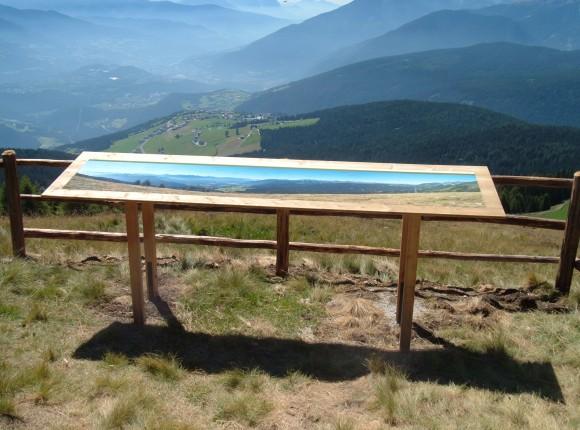 Tabellone panoramico Rifugio Moser