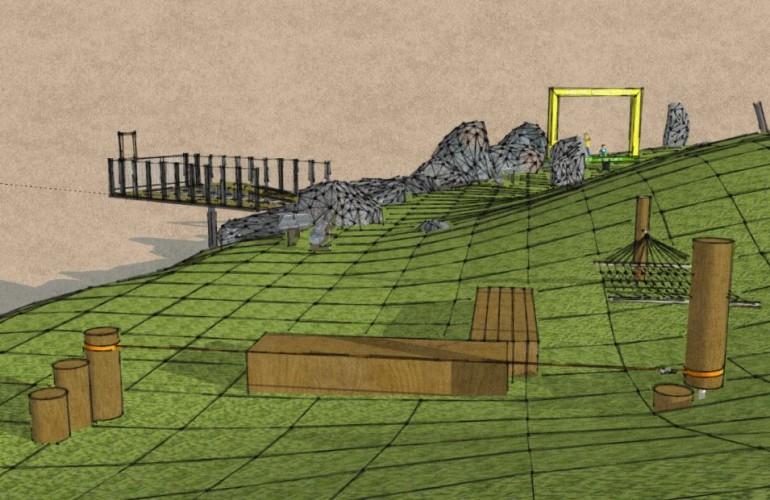 Panoramaplattform und Chill-Out-Area