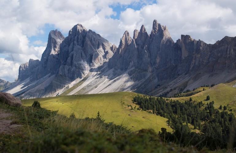 La catena montuosa delle Odle (2999m)
